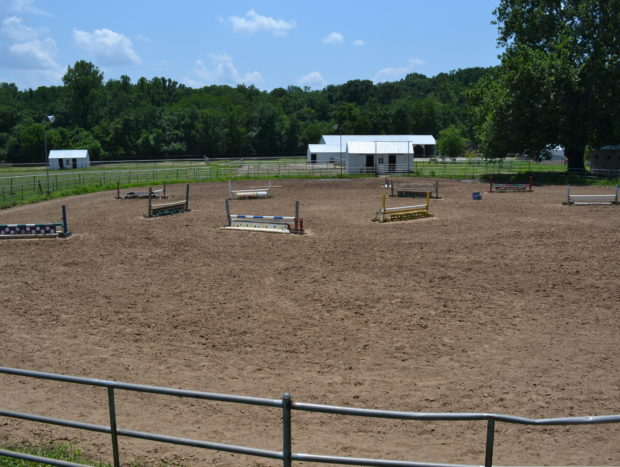 Lighted Outdoor Arena with 21 jumps available: 150 ft x 200 ft