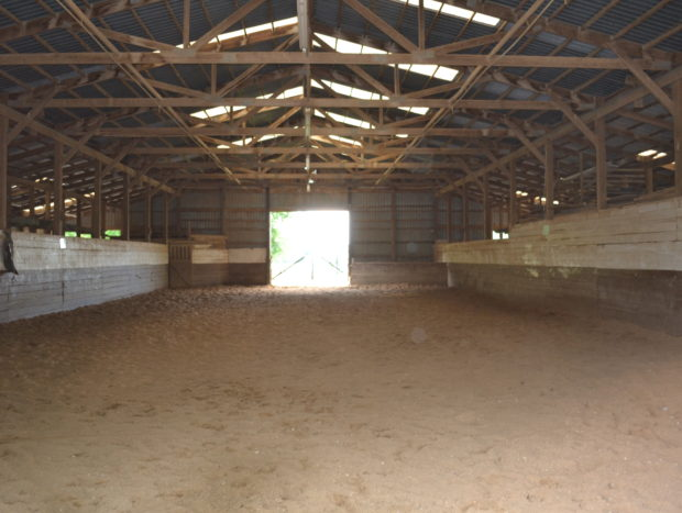 Small Indoor Riding Arena inside Big Barn: 40 ft x 100 ft